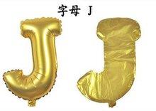 Ballonnenparade ballon 40 cm goud letter J