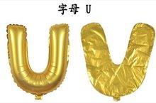 Ballonnenparade ballon 40 cm goud letter U