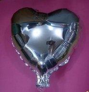 Ballonnenparade 75 cm zilveren hartvormige folie ballon van hoge kwaliteit