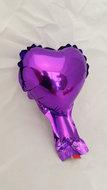 OP = OP 68% Korting 10 stuks zelfsluitende folie hartballonnetjes 10 cm paars