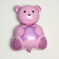 Ballonnenparade Roze beer its a girl voor geboorte meisje 38 cm