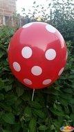 Voordeelpak 100 stuks Rode ballon met witte stippen 30 cm hoge kwaliteit Ballonnenparade