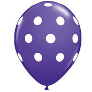 Ballonnenparade 25 stuks Donkerblauw ballon met witte stippen 30 cm hoge kwaliteit