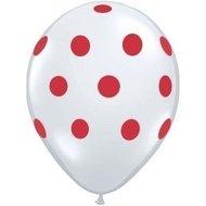 €3000000 Sparen Ballonnenparade 25 stuks witte ballon met rode stippen 30 cm hoge kwaliteit