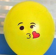 Ballonnenparade 10 stuks ballon smiley 30 cm geel kusje