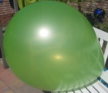 Ballonnenparade 3 stuks Mega grote groene ballonnen 90 cm