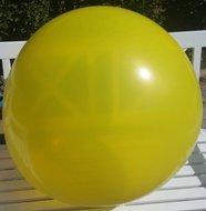 Ballonnenparade 3 stuks Mega grote gele ballonnen 90 cm