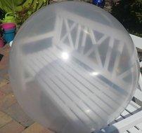 3 stuks Mega grote transparante ballonnen 90 cm Ballonnenparade