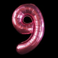 Ballonnenparade Cijferballon roze 97 cm nummer 9 professionele kwaliteit