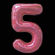 €4000000 Bespaart Ballonnenparade Cijferballon roze 97 cm nummer 5 professionele kwaliteit