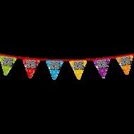 Holografische vlaggenlijn 8 m met het cijfer 25 jaar