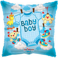 Folie ballon baby boy met baby shirt