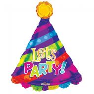 Folie ballon Lets Party! 71 cm groot